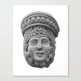 Face with Crown Canvas Print