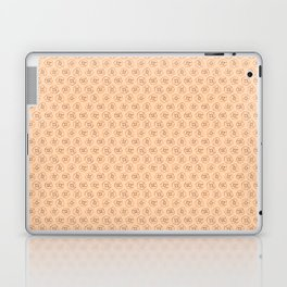 brown flowers on peach background Laptop & iPad Skin