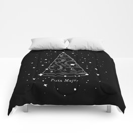 Pizza Major Comforters