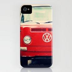 Red Vintage Bus iPhone (4, 4s) Slim Case