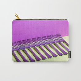 still life with forks on a colorful background Carry-All Pouch