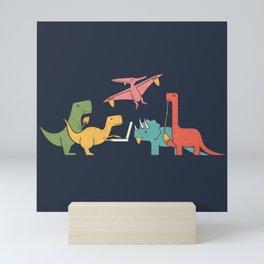 Dino Pizza Mini Art Print