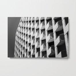 Hotel Balconies-B&W Metal Print
