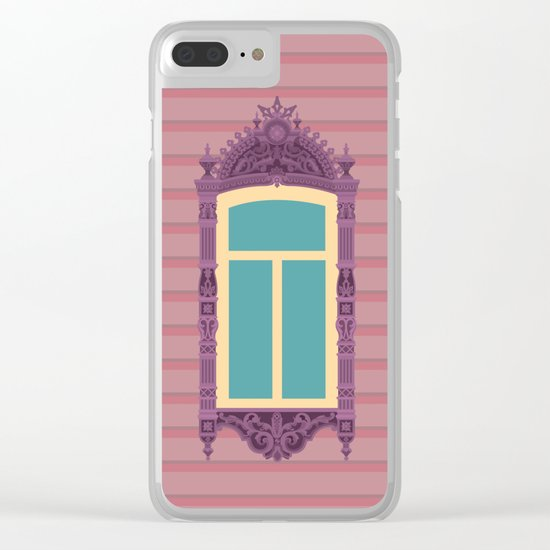 Lilac Window Clear iPhone Case