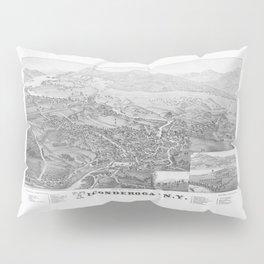 Ticonderoga Map 1884 Pillow Sham