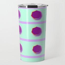 PURPLE SYMBOLS PATTERN Travel Mug