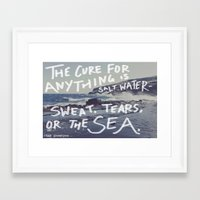 salt water Framed Art Prints featuring Salt Water by Leah Flores