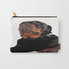 Regal and Proud Male Rottweiler Portrait Isolated Carry-All Pouch