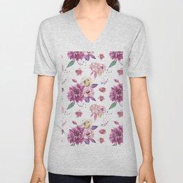 Succulent Rose Unisex V-Neck