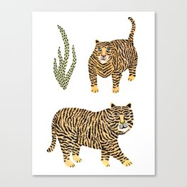Jungle Tigers light by Veronique de Jong Canvas Print