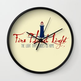 Fire Island's Light is Home Wall Clock