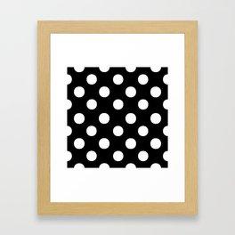Polka Dots (White/Black) Framed Art Print