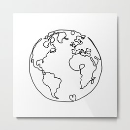 The World in Love Metal Print