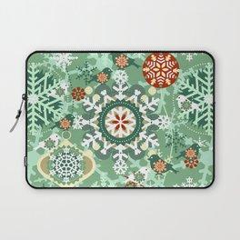 snow in garden Laptop Sleeve