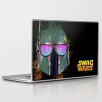 boba fett Laptop & iPad Skins featuring Boba Fett by Heretic