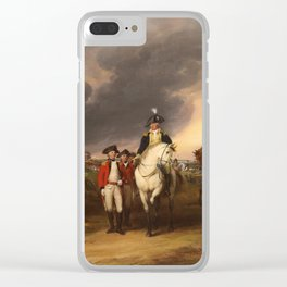 Surrender of Lord Cornwallis by John Trumbull (1820) Clear iPhone Case