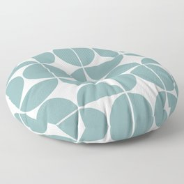 Mid Century Modern Geometric 04 Glass Blue Floor Pillow