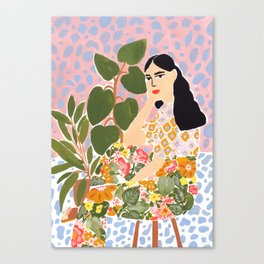 Botanical Lady Canvas Print