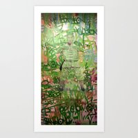 meditation Art Prints featuring Meditation by Michael Hammond