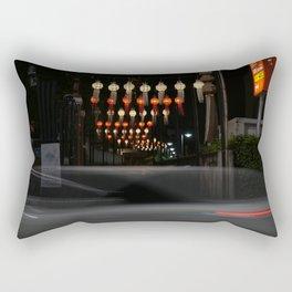 Asian paper lanterns Rectangular Pillow