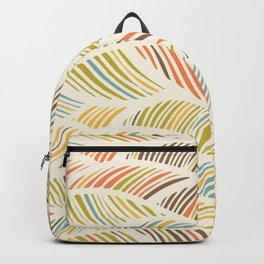 Fine Feather Pattern Backpack