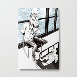 Unicorn Doctor Metal Print
