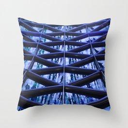 BLUE GLASS ROOF Throw Pillow