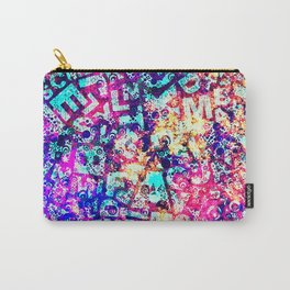 Alphabet Pastel Abstract Pattern Design Carry-All Pouch