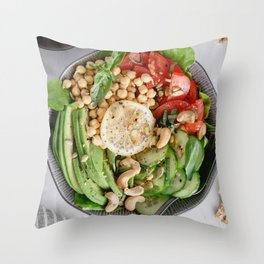 Healthy lunch bowl Throw Pillow