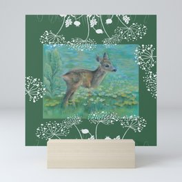 Roe on the spring meadow Mini Art Print