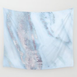 Light Blue Gray Marble Wall Tapestry