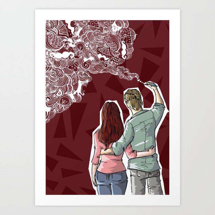 Painting dream Art Print