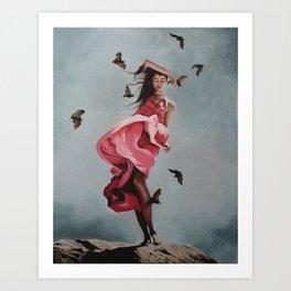 Swarmed by Bats Art Print