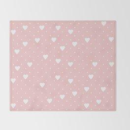 Pin Point Hearts Blush Throw Blanket