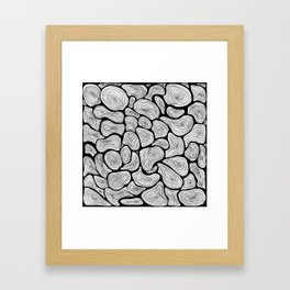 Circlink | The abstract ink forest Framed Art Print
