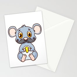Cute & Funny Mous-Tache Mouse Pun Mustachioed Stationery Cards