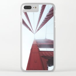 Golden Gate Bridge fogged up - San Francisco, CA Clear iPhone Case