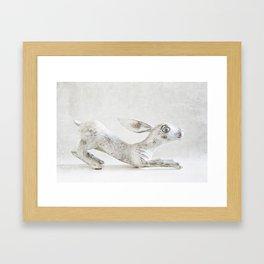 Wooden Rabbit Framed Art Print