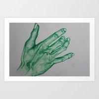 Giving the Earth a hand Art Print