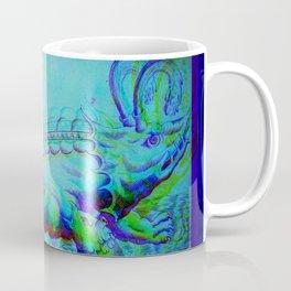 Whale Antique Engraving Glitch Version Coffee Mug