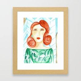 Miss Molly Framed Art Print