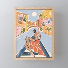 Gondola ride Framed Mini Art Print
