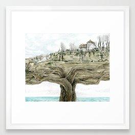 Tree city Framed Art Print