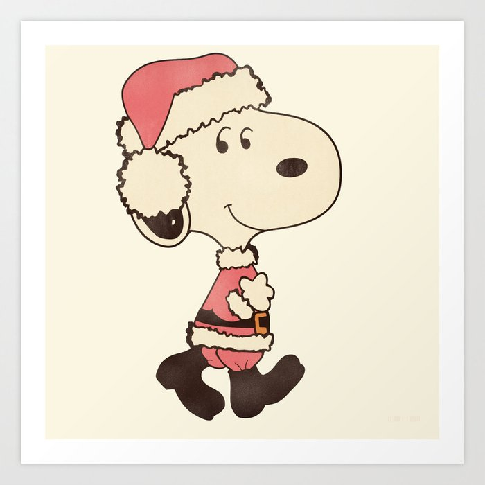 Snoopy Christmas Images.Merry Snoopy Christmas Art Print By Hiimadel