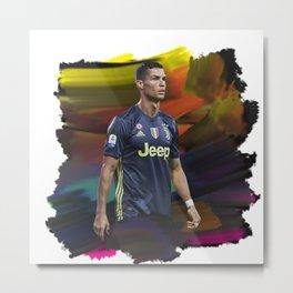 Watercolor Ronaldo Metal Print