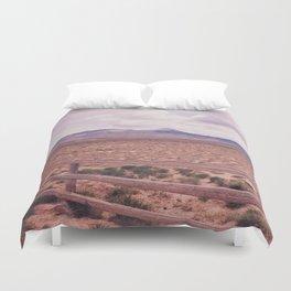 Desert Fence Duvet Cover