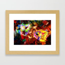 CARNIVAL TIME. Framed Art Print