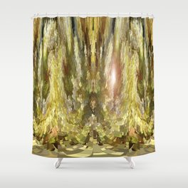 3-D Clover Stretch v.1 Shower Curtain