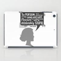 jane austen iPad Cases featuring [Jane Austen] Book Lover by samarasketch