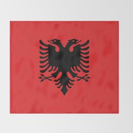 Flag of Albania - Authentic version Throw Blanket